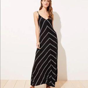 LOFT ✨NWTs✨ Striped Strappy Maxi Dress
